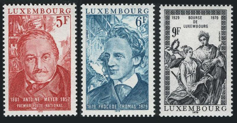 Luxembourg 627-629,MNH.Michel 990-992. Antoine Meyer,Thomas process.1979.