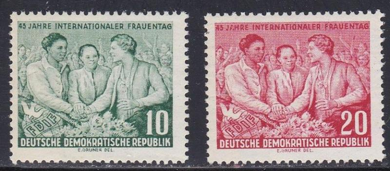 German Dem Rep # 233-234, Women's Day, LH, 1/3 Cat