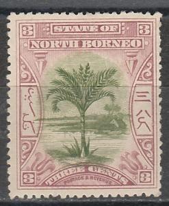 NORTH BORNEO 1897 TREE 3C