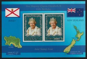 Jersey Queen Elizabeth 80th Birthday MS SG#MS1273