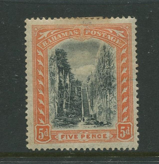 Bahamas -Scott 34 - Queens Staircase Issue -1901 - MH - Single 5p Stamp