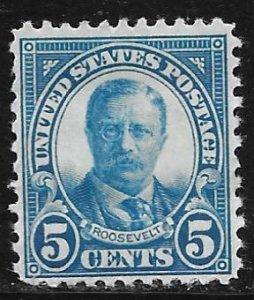 USA 637: 5c Roosevelt, MNH, F-VF