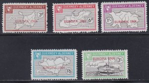 Guernsey -Alderney, Local Issues -  Europa 64 Overprints, NH