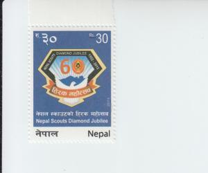 2014 Nepal Scouting Diamond Jubilee (Scott 947) MNH