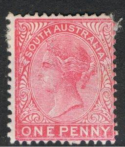 SOUTH AUSTRALIA 1868 - 1911 1d RED SECOND SIDEFACE