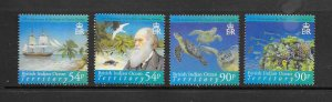 FISH - BRITISH INDIAN OCEAN TERRITORY #331-4  CHARLES DARWIN    MNH