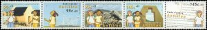 2004 Netherlands Antilles #B362, Complete Set, Strip of 5, Never Hinged