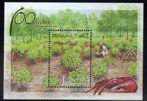 Malaysia Scott 991 MNH** souvenir sheet