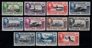 Falkland Islands 1938 George VI Definitives [Unused]