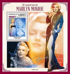 DJIBUTI - 2021 - Marilyn Monroe - Perf Souv Sheet  - Mint Never Hinged