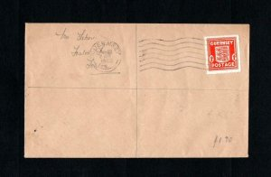 GUERNSEY WARTIME 1d USED ON 1942 COVER