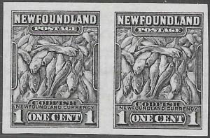 Newfoundland Scott Number 184c Imperf Pair VF LH