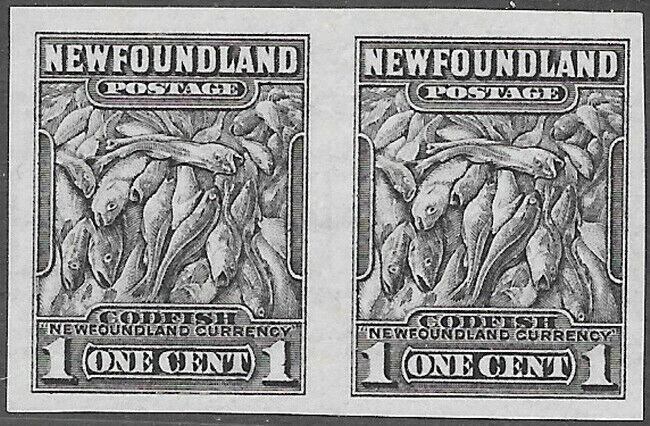 Newfoundland Scott Number 184c Imperf Pair VF LH