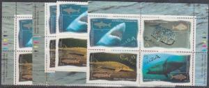 Canada #1644a Mint MS of Imprint Blocks VF-NH 1997 45c Ocean Water Fish -