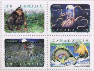 Canada Mint VF-NH #1292a Canadian Folklore block/4