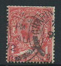 GB George V  SG 329wi used clipped perf from booklet, wmk...