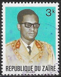 Zaire 761 Used - President Joseph Mobutu