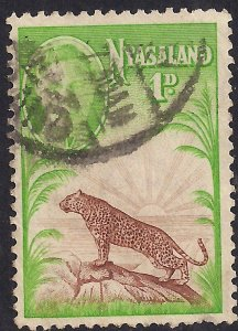 Nyasaland 1947 KGV1 1d Lion Symbol of Protectorate Used SG 160 ( L976 )