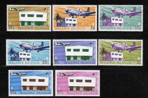 Maldives 1967 Hulule airport airplane Sc 221-228 MNH A1628