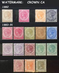Malaya Straits Settlements 1882-91 QV full set MINT SG#50&53 63-71 CV£1080 M1835