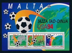 [59592] Malta 1994 World Cup Soccer Football USA MNH Sheet
