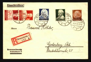 Germany 1935 Zusammendruck Pair On On Cover / Light Crease - Z17105