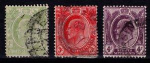 Straits Settlements 1903 Edward VII definitives, Part Set [Used]