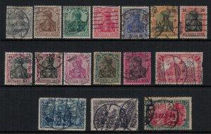 Germany #80-95  CV $36.25