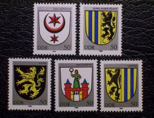 German Democratic Republic Scott #2398-2402 mnh