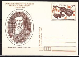 Poland, Ruch cat. CP818. Violinist Karol Lipinski Postal Card. ^