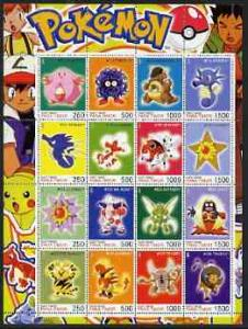 Timor (East) 2001 Pokemon #08 (characters nos 113-128) pe...