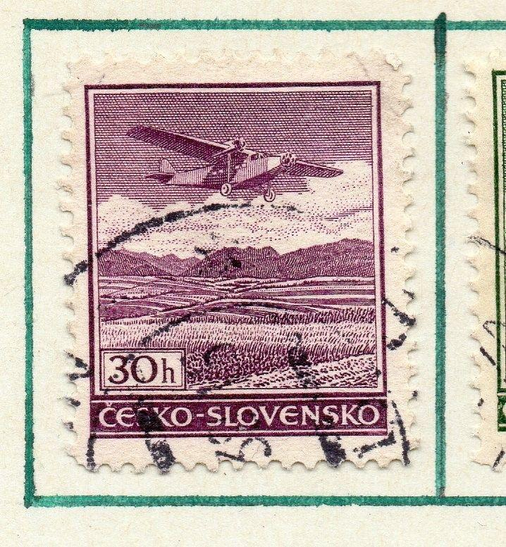 Czechoslovakia 1930 Air Early Issue Fine Used 30h. 230291