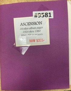 Collections For Sale, Ascension (9581) Minkus Album Pages 1924 thru 1984
