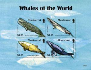 Montserrat - Whales - 4  Stamp Sheet  MOT0804SH