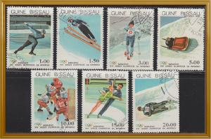 Guinea-Bissau 505-511 Hinged CTO 1983 XIV Winter Olympic Games Set