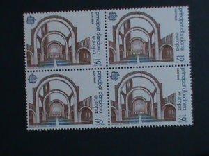 ANDORRA-SPAIN-1987 SC#178  EUROPA-NEW MODERN ARCHITECTURE -MNH BLOCK OF 4-VF