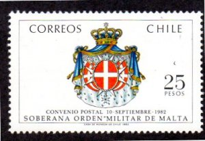 CHILE 632 MNH SCV $2.00 BIN $1.20 COATS OF ARMS