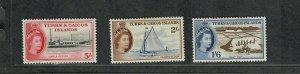 Turks+Caicos Sc#131-133 M/H/VF, Partial Set, High Values, Cv. $35