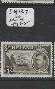 ST HELENA  (P0406B)  KGVI  BOAT  1/-  SG 137   MNH