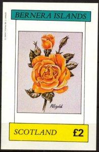 {B084} Bernera Scotland Flowers (2) Roses S/S 2£ MNH Cinderella !!