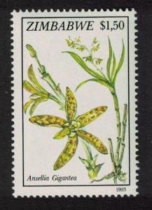 Zimbabwe $1.50 - Ansellia gigantea Orchid SG#862