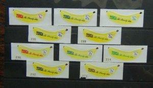 Tonga 1969 Banana set + Official Banana set MM