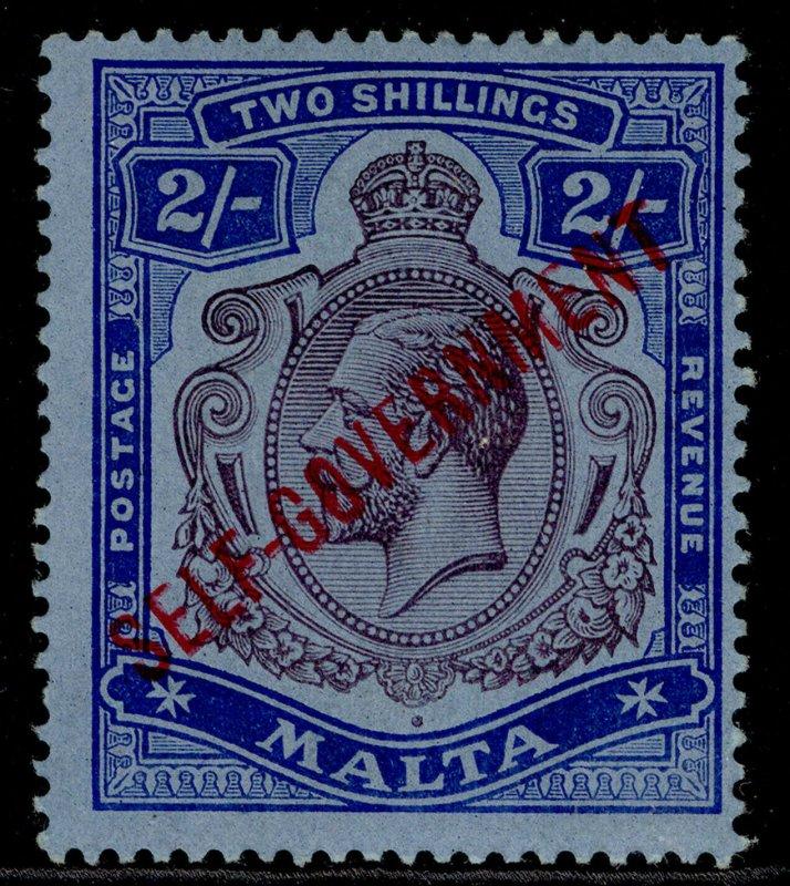 MALTA GV SG111, 2s purple & blue/blue, LH MINT. Cat £250. WMK MULT CROWN