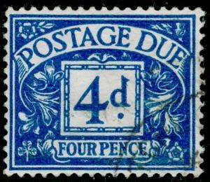 SGD38, 4d blue, FINE USED. Cat £22. WMK GVIR.