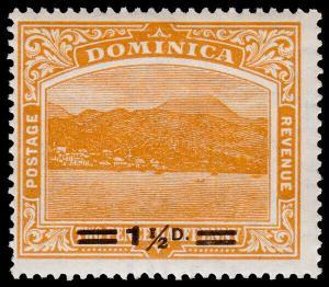Dominica Scott 55 (1920) Mint H F-VF, CV $7.50 M