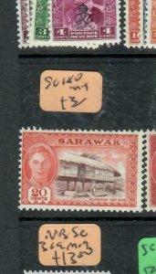 SARAWAK  (P2204B)  KGVI 20C  SG 180    MOG
