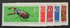 DDR Sc # 663-67, VF MNH