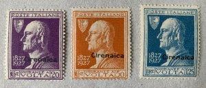 Cyrenaica 1927 Volta.  MNH except low value is LH.  Scott 25-27 CV $35.00