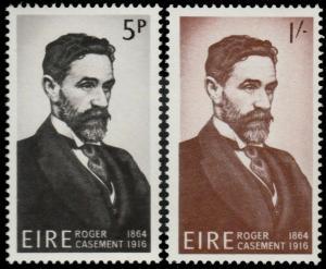 ✔️ IRELAND 1966 - ROGER CASEMENT - SC. 214/215 MNH OG [IR0186]