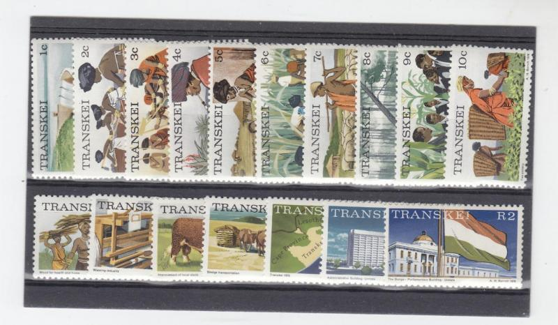 SOUTH AFRICA-TRANSKEI # 5-21 MNH  VARcts  SCENES FROM 1976 CAT VALUE $16